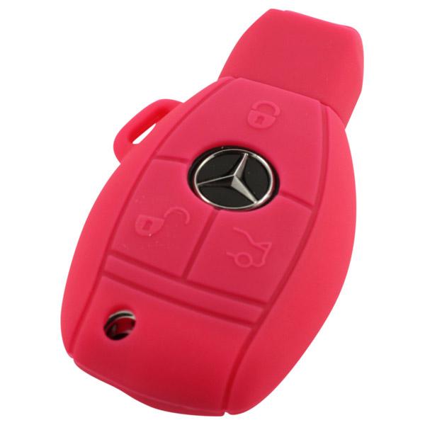 Roze Mercedes 3-knops smart key