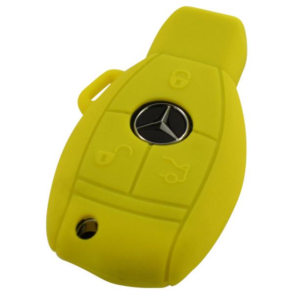Mercedes 3-knops smart key geel