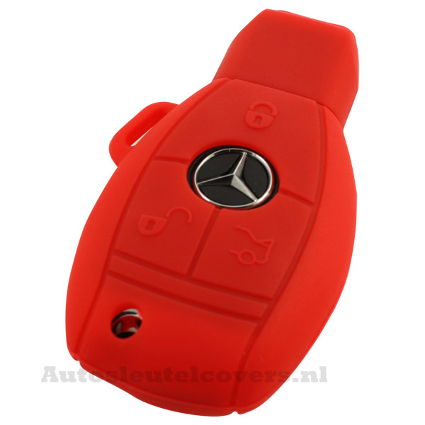 Mercedes 3-knops smart key rood
