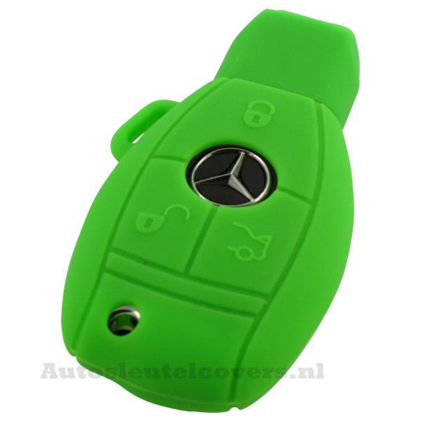 Mercedes 3-knops smart key groen