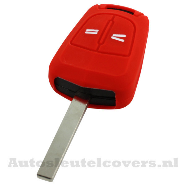2-knops sleutelcover Opel rood