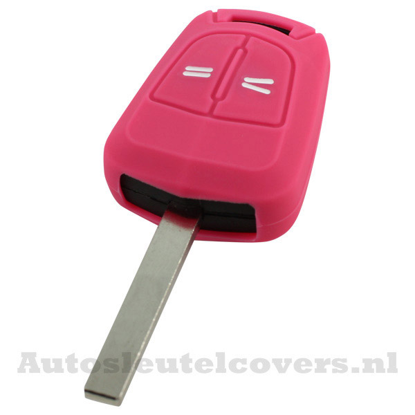 2-knops sleutelcover Opel roze