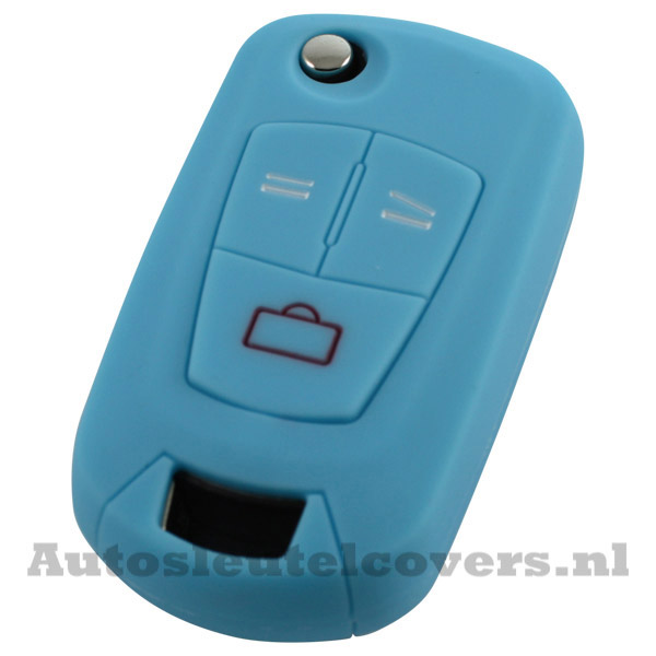 Opel 3-knops klapsleutel sleutelcover licht blauw