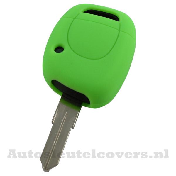 Renault sleutelbehuizing 1 knop sleutelcover groen