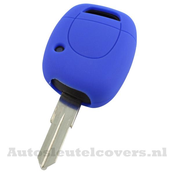 Renault sleutelbehuizing 1 knop sleutelcover blauw