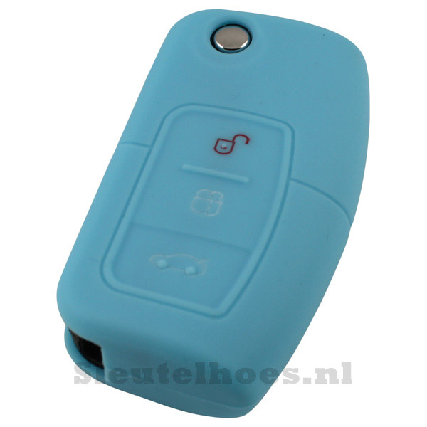 Ford 3-knops klapsleutel sleutelcover – licht blauw (model 2)