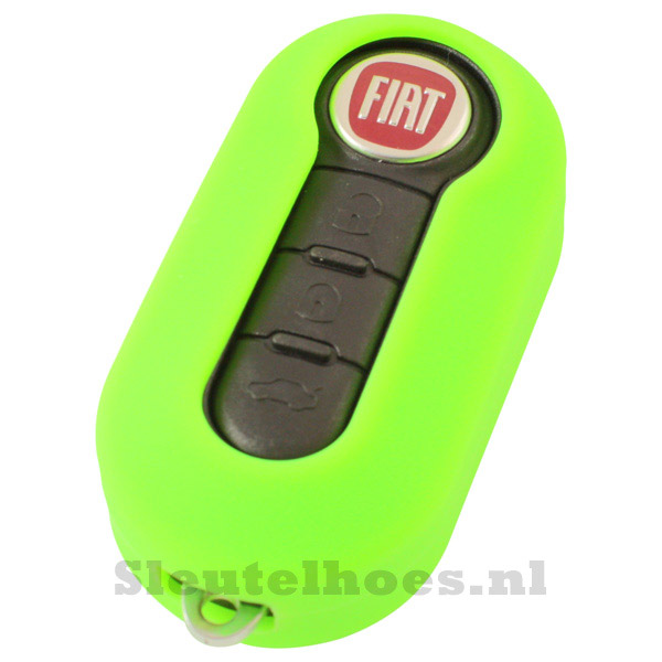 Fiat 3-knops klapsleutel sleutelcover – groen