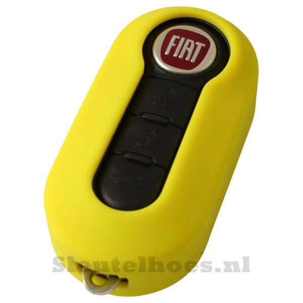 Fiat 3-knops klapsleutel sleutelcover – geel