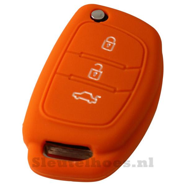 Hyundai 3-knops klapsleutel sleutelcover – oranje