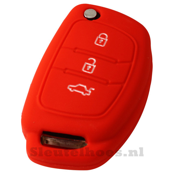 Hyundai 3-knops klapsleutel sleutelcover – rood