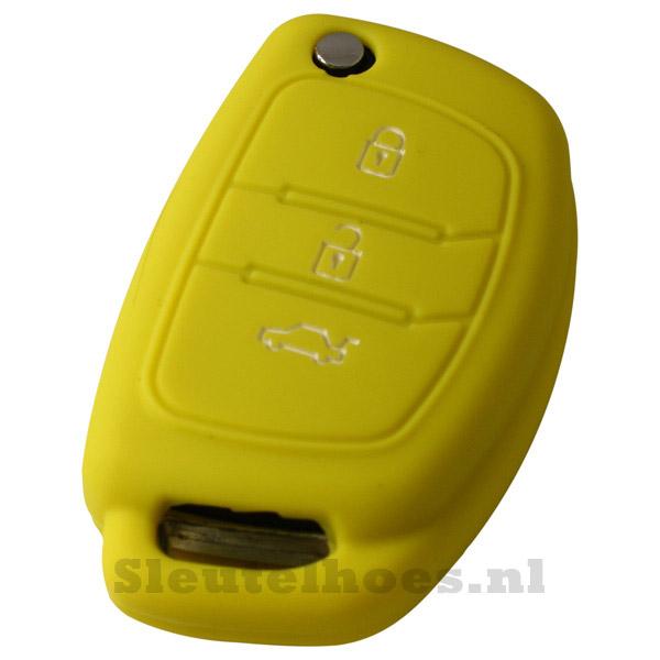 Hyundai 3-knops klapsleutel sleutelcover – geel