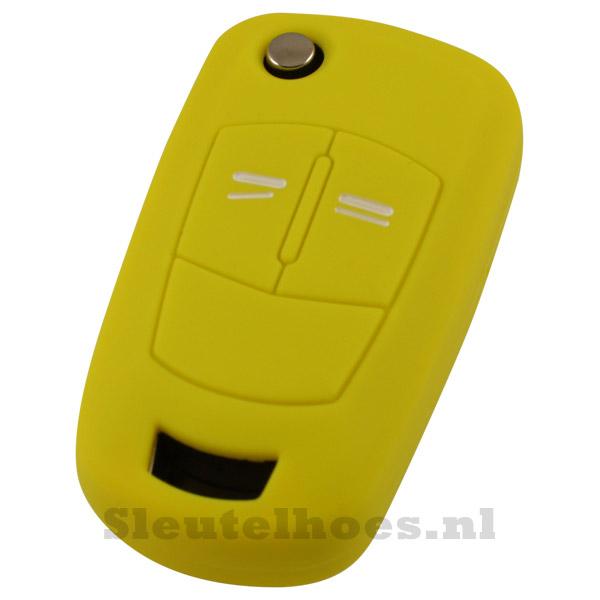Opel 2-knops klapsleutel sleutelcover – geel