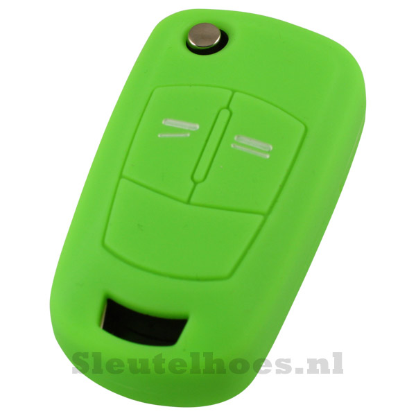 Opel 2-knops klapsleutel sleutelcover – neon groen