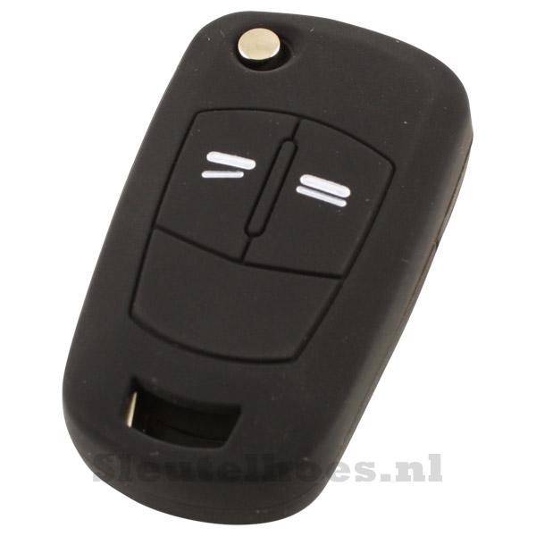 Opel 2-knops sleutelcover zwart