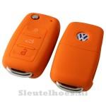 Volkswagen 3-knops sleutelhoes autosleutel oranje